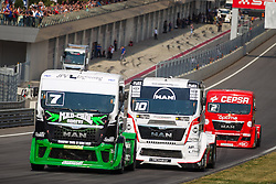 06.07.2013, Red Bull Ring, Spielberg, AUT, Truck Race Trophy, Renntag 1, im Bild Mika Maekinen, (FIN, Mika Maekinen, #7, 3. Platz), Norbert Kiss, (HUN, Oxxo Energy Truck Race Team, #10, 2. Platz), Antonio Albacete, (ESP, Equipo Cepsa, #2)  // during the Truck Race Trophy 2013 at the Red Bull Ring in Spielberg, Austria, 2013/07/06, EXPA Pictures © 2013, PhotoCredit: EXPA/ M.Kuhnke