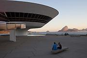 Niteroi Contemporary Art Museum, designed by Oscar Niemeyer, Niteroi, Rio de Janeiro State, Brazil.