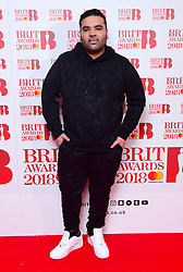 Naughty Boy attending the Brit Awards 2018 Nominations event held at ITV Studios on Southbank, London.