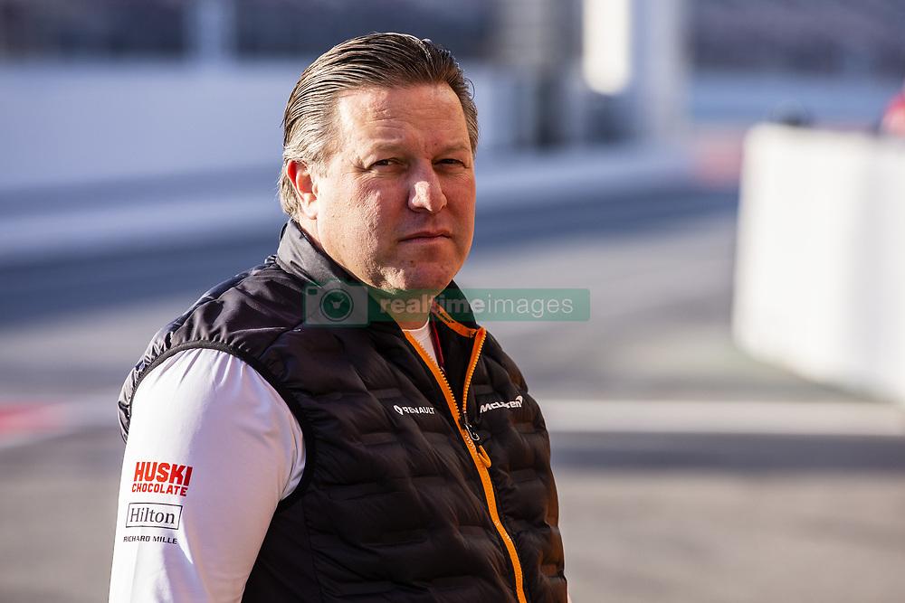 February 18, 2019 - Barcelona, Barcelona, Spain - Zak Brown Team Chief of Mclaren F1 Team - Renault MCL34 portrait during the Formula 1 2019 Pre-Season Tests at Circuit de Barcelona - Catalunya in Montmelo, Spain on February 18, 2019. (Credit Image: © Xavier Bonilla/NurPhoto via ZUMA Press)