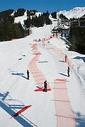 Setting up for a race at the 2007 U.S. Alpine Championships at Alyeska, Resort, Alaska.