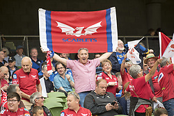 May 27, 2018 - Dublin, Ireland - Scarlets fan pictured during the Guinness PRO14 Final match between Leinster Rugby and Scarlets at Aviva Stadium in Dublin, Ireland on May 26, 2018  (Credit Image: © Andrew Surma/NurPhoto via ZUMA Press)