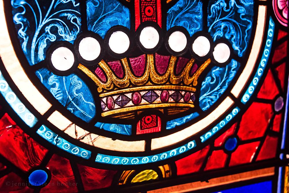 'Agnus Dei (Julia Tarbox Glazier Memorial Window),' artist and installation date unknown. St. Matthew and Barnabas, Hallowell, Maine.
