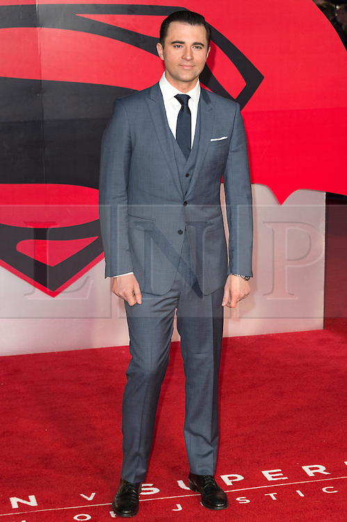 © Licensed to London News Pictures. 22/03/2016. DARIUS CAMPBELL attend the Batman V Superman: Dawn of Justice European film premiere. The film is based on the DC Comics characters. London, UK. Photo credit: Ray Tang/LNP