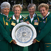 Queens Cup Winners, Australia, left to right, Margaret Robinson, Peg Hoysted, Shirley Whitaker, Elsie Crowe during the 2009 ITF Super-Seniors World Team and Individual Championships at Perth, Western Australia, between 2-15th November, 2009.