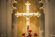 The altar crucifix on Saturday, Jan. 16, 2021, at Zion Lutheran Church, Fort Wayne, Indiana. LCMS Communications/Erik M. Lunsford