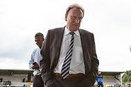Cardiff City manager Neil Warnock arrives at the Pirelli stadium during the EFL Sky Bet Championship match between Burton Albion and Cardiff City at the Pirelli Stadium, Burton upon Trent, England on 5 August 2017. Photo by Richard Holmes.