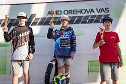 Winners of MX85 during Slovenian Championship in Motocross, on June 2nd, 2019 in Orehova Vas, Slovenia. Photo by Blaž Weindorfer / Sportida