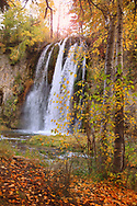Spearfish Falls on an autumn day with all it's color.