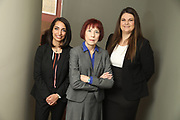 SHOT 12/4/19 11:15:24 AM - McGuane & Hogan, P.C., a Colorado family law firm located in Denver, Co. Includes attorneys Kathleen Ann Hogan, Halleh T. Omidi and Katie P. Ahles. (Photo by Marc Piscotty / © 2019)