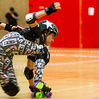 Wiltshire Roller Derby take on Furness Firecrackers in the British Champs Tier 2 West at Northbridge Leisure Centre, Halifax, 2019-06-01