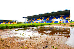 A general view of a rainy One Call Stadium, home to Mansfield Town - Mandatory by-line: Ryan Crockett/JMP - 27/04/2019 - FOOTBALL - One Call Stadium - Mansfield, England - Mansfield Town v Stevenage - Sky Bet League Two