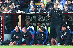 March 31, 2018 - London, Greater London, United Kingdom - Liverpool manager Jurgen Klopp .during the Premie\limrship League  match between Crystal Palace and Liverpool at Wembley, London, England on 31 March 2018. (Credit Image: © Kieran Galvin/NurPhoto via ZUMA Press)