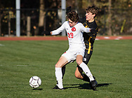 Greece Athena  plays Jamesville-DeWitt in a New York State Public High School Athletic Association Class A boys' soccer semifinal game at Faller Field in Middletown, N.Y., on Nov.16, 2019.