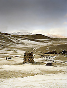"""The tumb site of Caravan Balat (""""son of the Caravan""""), where a 10 year old kid died. Just before Bozoi Gumbaz and the entrance of the Little Pamir..Winter expedition through the Wakhan Corridor and into the Afghan Pamir mountains, to document the life of the Afghan Kyrgyz tribe. January/February 2008. Afghanistan"""