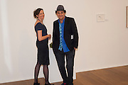 MARGOT HELLER; GERRY FOX , Reception of the Silent Auction for the South London Gallery.  Hauser and Wirth. Savile Row. London. 13 October 2011. <br /> <br />  , -DO NOT ARCHIVE-© Copyright Photograph by Dafydd Jones. 248 Clapham Rd. London SW9 0PZ. Tel 0207 820 0771. www.dafjones.com.
