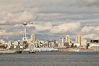 Seattle skyline across the Puget Sound
