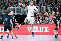 Igor Vori #9 of Paris Sant-Germain during handball match between PPD Zagreb (CRO) and Paris Saint-Germain (FRA) in 11th Round of Group Phase of EHF Champions League 2015/16, on February 10, 2016 in Arena Zagreb, Zagreb, Croatia. Photo by Urban Urbanc / Sportida
