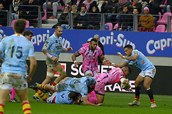January 5, 2019 - Paris, France - Stade Francais Prop SIGFRIED FISI IHOI in action during the French rugby championship Top 14 match between Stade Francais and  Perpignan  at Jean Bouin Stadium in Paris - France..Stade Franais won 27-8 (Credit Image: © Pierre Stevenin/ZUMA Wire)