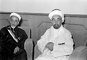 24th anniversary of Arab revolt under King Hussein & Lawrence 1940. The Emir Abdullah & Sheikh Abdullah Siraf a Hafai notable Minister of Justice & Education, (former Prime Minister) seated in reception hall waiting to receive British Resident.