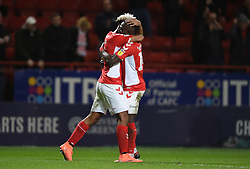 Charlton Athletic's Lyle Taylor (left) celebrates scoring his side's second goal of the game with team-mate