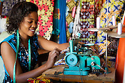"""Rahab Mbuba, also known as 'Mama B"""", set up and now runs a tailoring business, designing and making clothes.<br /> <br /> She attended MKUBWA enterprise training run by the Tanzania Gatsby Trust in partnership with The Cherie Blair Foundation for Women."""