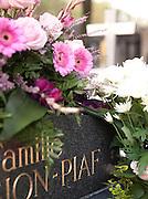 The grave of Edith Piaf at Cimetier du Pere Lachaise, Paris, France