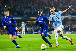 February 21, 2019 - London, Great Britain - 190221 N'Golo Kante of Chelsea and SÅ¡ren Rieks of MalmÅ¡ FF during the Europa league match between Chelsea and MalmÅ¡ FF on February 21, 2019 in London..Photo: Petter Arvidson / BILDBYRN / kod PA / 92228 (Credit Image: © Petter Arvidson/Bildbyran via ZUMA Press)