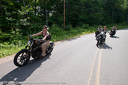 Dana Cooley and the Iron Lilies out riding during Laconia Motorcycle Week 2016. NH, USA. Sunday, June 19, 2016.  Photography ©2016 Michael Lichter.