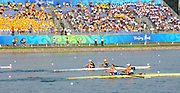 """Shunyi; CHINA.; Women's pair Repechage, GBR W2-, Bow,  Louisa REEVE and Olivia WHITLAM, [coming second to qualify for Sat Final]. at the 2008 Olympic Regatta; Shunyi Rowing Course. Tuesday 12.08.2008; """"Mandatory Credit: Peter SPURRIER, Intersport Images"""""""