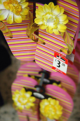 Sale label on shoes in a department store,