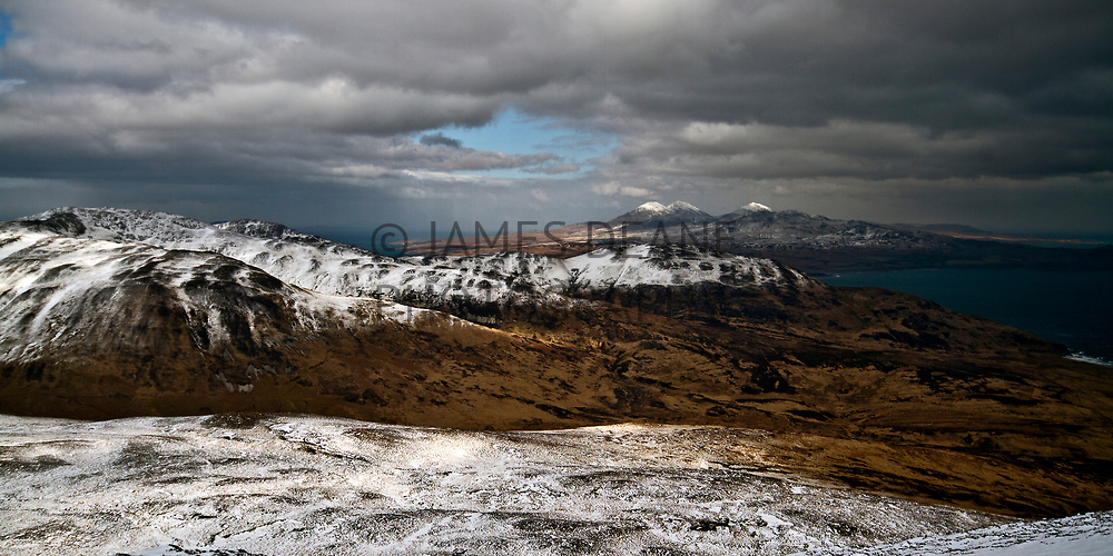 The view towards Jura from the summit of Beinn Bheigier