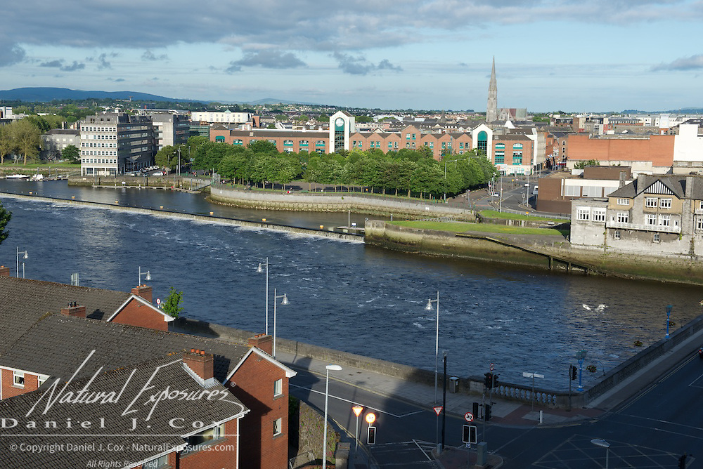 View of the Shannon River, Limerick, Ireland.