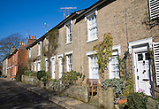 Historic terraced housing, St John's Terrace, Woodbridge, Suffolk, England