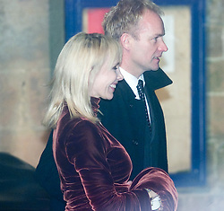 Trudi Styler and Sting arrive at Dornoch Cathedral. Madonna and Guy Ritchie's christening of their baby Rocco at Dornoch Cathedral in Scotland on the night of 12th December 2000.