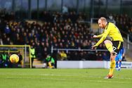 Burton Albion forward Liam Boyce (27) shoots at goal during the EFL Sky Bet League 1 match between Burton Albion and Gillingham at the Pirelli Stadium, Burton upon Trent, England on 12 January 2019.