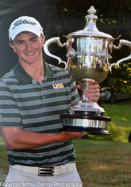 19/7/15 Paul Dunne at the age of 20 at the Greystones Golf club. Picture:Arthur Carron