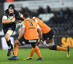 Ospreys' James King<br /> <br /> Photographer Mike Jones/Replay Images<br /> <br /> Guinness PRO14 Round Round 16 - Ospreys v Cheetahs - Saturday 24th February 2018 - Liberty Stadium - Swansea<br /> <br /> World Copyright © Replay Images . All rights reserved. info@replayimages.co.uk - http://replayimages.co.uk