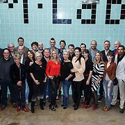 NLD/Amsterdam/20131104 - Lunch genomineerde Musical Awards Gala 2013, groepsfoto genomineerden