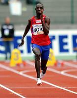Friidrett<br /> 20. Juni 2009<br /> European Team Championships 1. st Leauge<br /> Fana Stadion<br /> 100 m<br /> Jaysuma Saidy Ndure , Norge<br /> Foto : Astrid M. Nordhaug