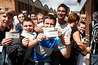 Photo: Steve Bond/Richard Lane Photography. Nottingham County v Nottigham Forest. Pre season Friendly. 25/07/2009.  Notts County fans show off tickets