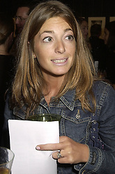 MISS CLAUDIA WINKLEMAN daughter of Eve Pollard, at a party in London on 25th September 2000.OHH 80