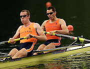 2006 FISA World Cup, Lucerne, SWITZERLAND, NED M2-, Olaf VAN ANDEL and Mitchel STEENMAN, 08.07.2006. Photo  Peter Spurrier/Intersport Images email images@intersport-images.com....[Mandatory Credit Peter Spurrier/Intersport Images... Rowing Course, Lake Rottsee, Lucerne, SWITZERLAND.