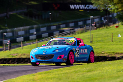 Simon Fleet pictured while competing in the BRSCC Mazda MX-5 SuperCup Championship. Picture taken at Cadwell Park on August 1 & 2, 2020 by BRSCC photographer Jonathan Elsey