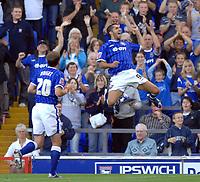 Photo: Ashley Pickering.<br /> Ipswich Town v Coventry City. Coca Cola Championship. 22/09/2007.<br /> Pablo Counago (R) celebrates the second for Ipswich