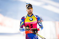 Martin Fourcade (FRA) competes during Men 12,5 km Pursuit at day 3 of IBU Biathlon World Cup 2015/16 Pokljuka, on December 19, 2015 in Rudno polje, Pokljuka, Slovenia. Photo by Ziga Zupan / Sportida