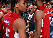CHARLOTTESVILLE, VA- NOVEMBER 13: Head coach Tim Carter of the South Carolina State Bulldogs talks with his team during the game on November 13, 2011 at the John Paul Jones Arena in Charlottesville, Virginia. Virginia defeated South Carolina State 75-38. (Photo by Andrew Shurtleff/Getty Images) *** Local Caption *** Tim Carter