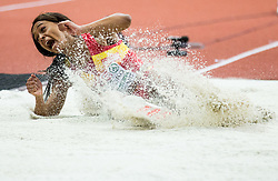 Ana Peleteiro of Spain competes in the Triple Jump Women Qualification on day one of the 2017 European Athletics Indoor Championships at the Kombank Arena on March 3, 2017 in Belgrade, Serbia. Photo by Vid Ponikvar / Sportida