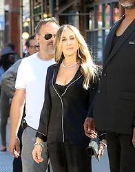 June 16, 2018 - New York, New York, U.S. - Actress SARAH JESSICA PARKER shoots a commercial for Italian Lingerie company Intimissimi in the West Village. (Credit Image: © John Sheene/Ace Pictures via ZUMA Press)