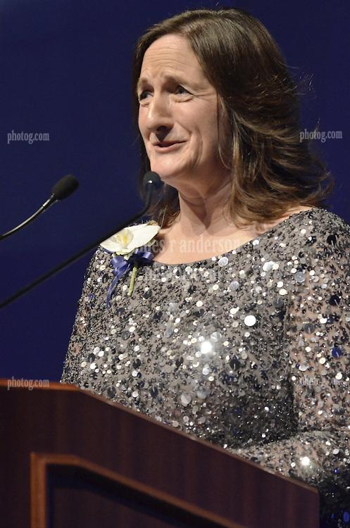 Nancy Cahill '79, Honoree, Blue Leader '11, Yale University Athletics. Ball and Awards Presentation, Lanman Center, Payne Whitney Gymnasium.